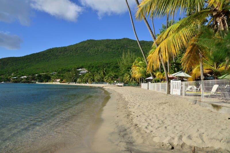 Martinique den pittoreska staden av Les Anses D Arlet i västra I royaltyfria foton