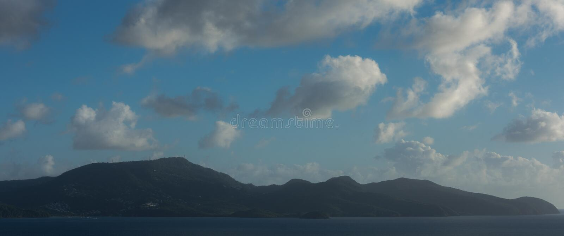 Martinique island landscape. Amazing martinique island landscape. blue sky and light blue sea royalty free stock image