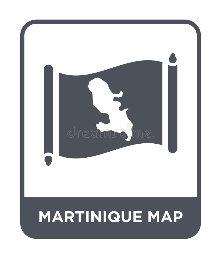 Martinique map icon in trendy design style. martinique map icon isolated on white background. martinique map vector icon simple. And modern flat symbol for web vector illustration
