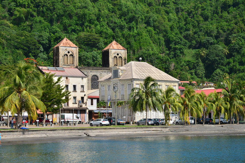 Martinique, picturesque city of Saint Pierre in West Indies stock photography