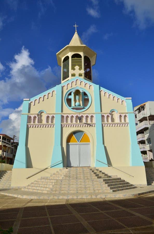 Martinique pittoresk by av Riviere Pilote i västra Indie royaltyfri fotografi