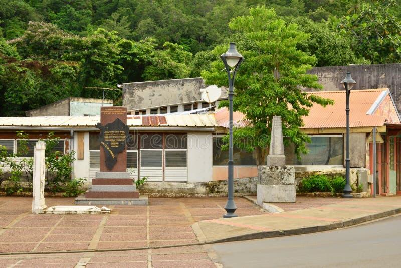 Martinique pittoresk by av Riviere Pilote i västra Indie arkivbild