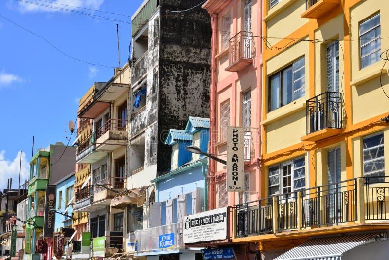 Martinique pittoresk stad av Fort de France i västra Indies arkivfoton