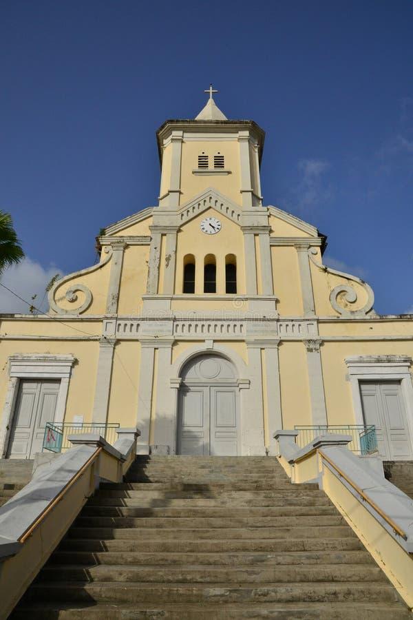 Martinique pittoresk stad av Le Helgon Esprit i västra Indies royaltyfri fotografi