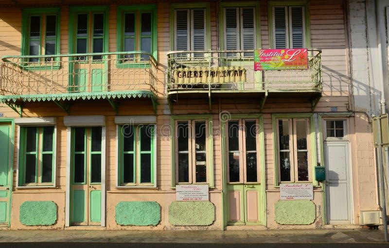 Martinique pittoresk stad av Le Helgon Esprit i västra Indies arkivfoton