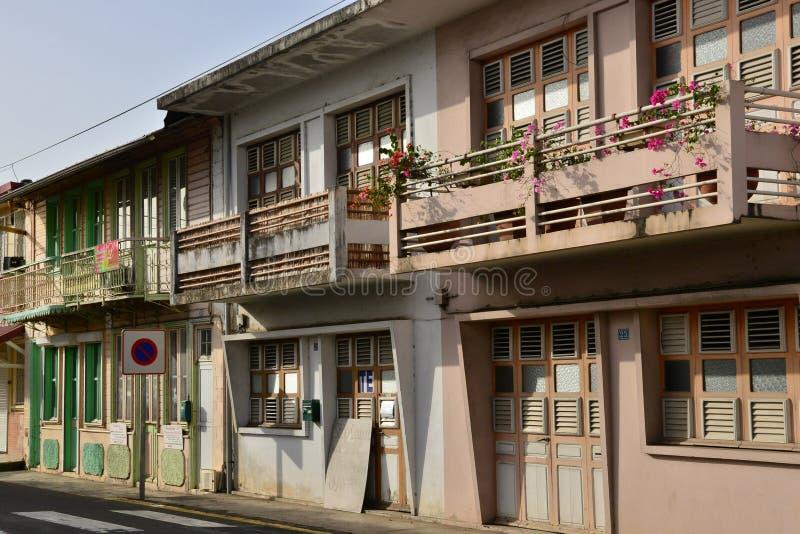 Martinique pittoresk stad av Le Helgon Esprit i västra Indies royaltyfri foto