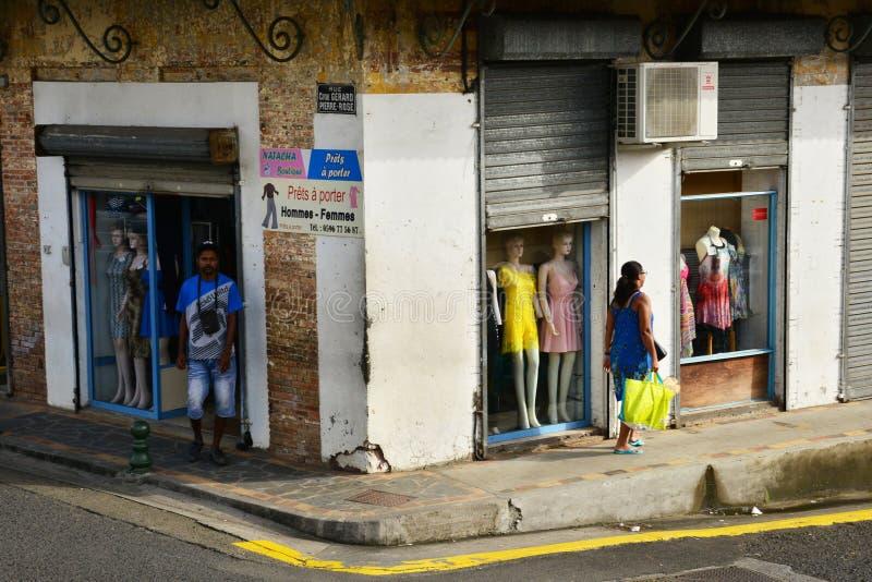 Martinique pittoresk stad av Le Helgon Esprit i västra Indies royaltyfria foton
