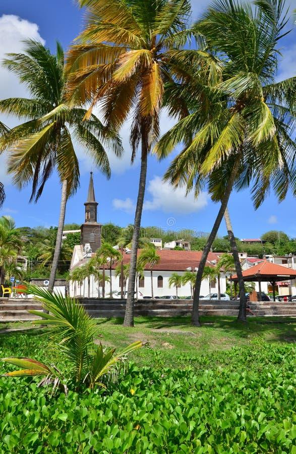Martinique pittoresk stad av Le som är diamant i västra Indies royaltyfri fotografi