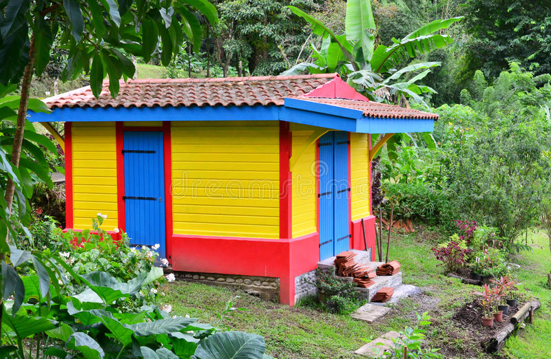 Martinique pittoresk stad av Morne Rouge i västra Indies royaltyfria foton