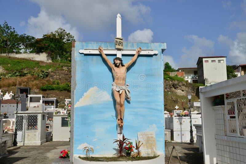 Martinique pittoresk stad av Riviere Pilote i västra Indies royaltyfri fotografi