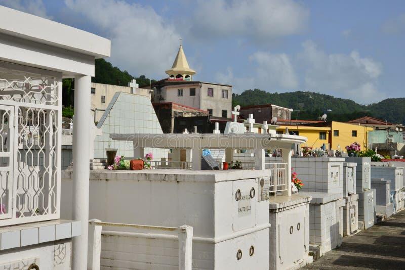 Martinique pittoresk stad av Riviere Pilote i västra Indies royaltyfri bild
