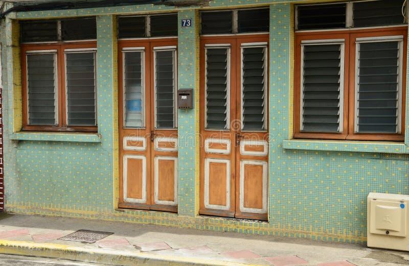 Martinique pittoresk stad av Sainte Luce i västra Indies arkivbilder