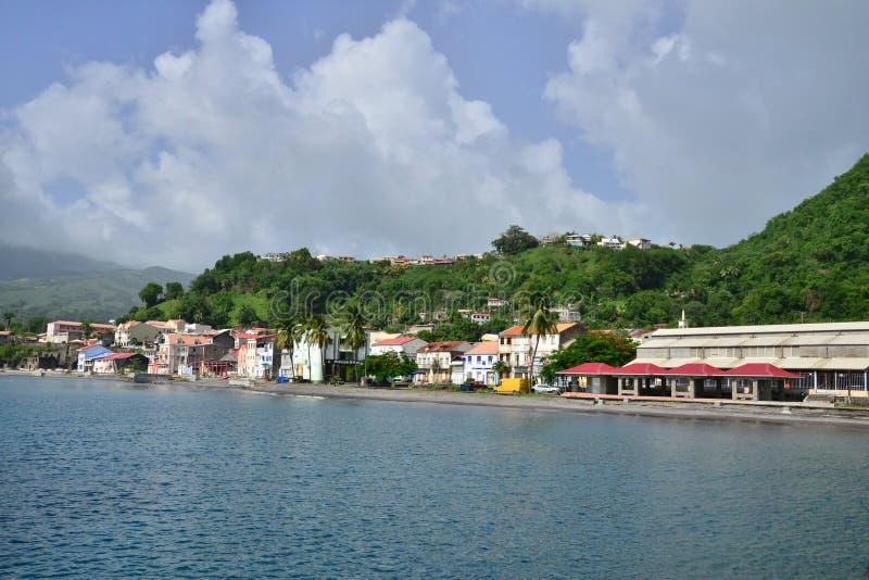 Martinique, schilderachtige stad van Saint Pierre in de Antillen stock foto