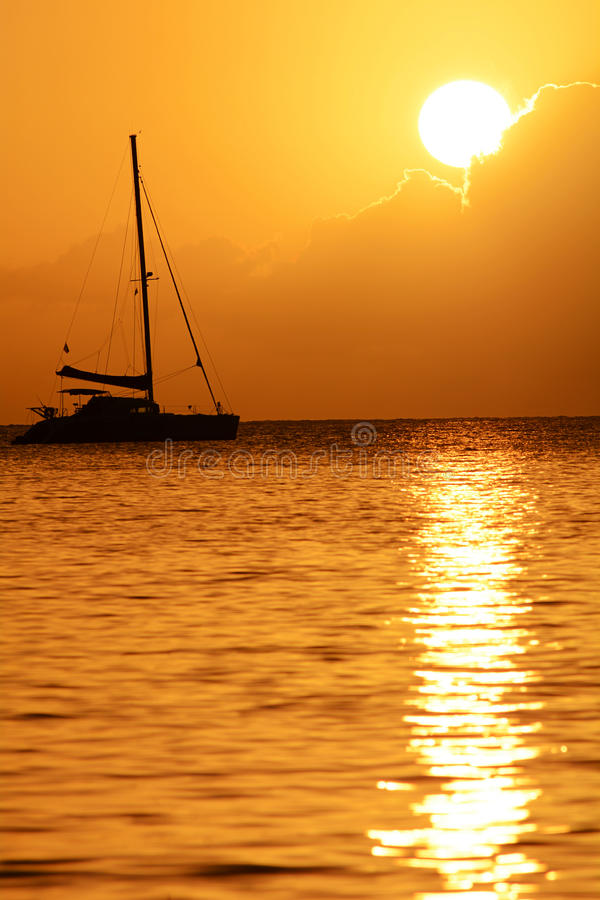 Martinique-Sonnenuntergang lizenzfreie stockfotografie