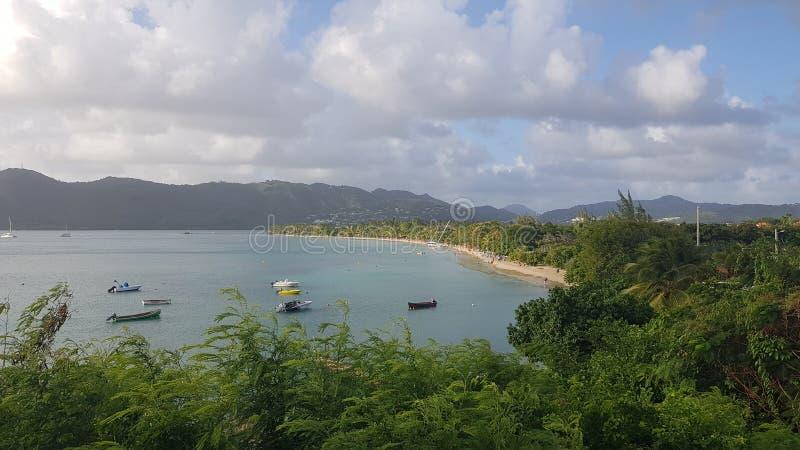 Martinique. Vue panoramique en face plage du diamant royalty free stock photography