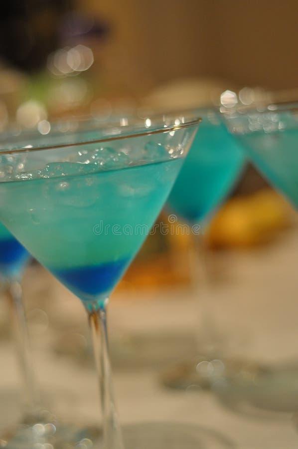 Martinis azules imagen de archivo libre de regalías