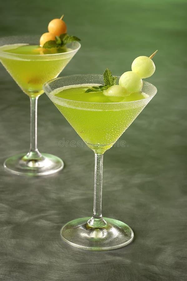 Martinis do melão imagem de stock royalty free