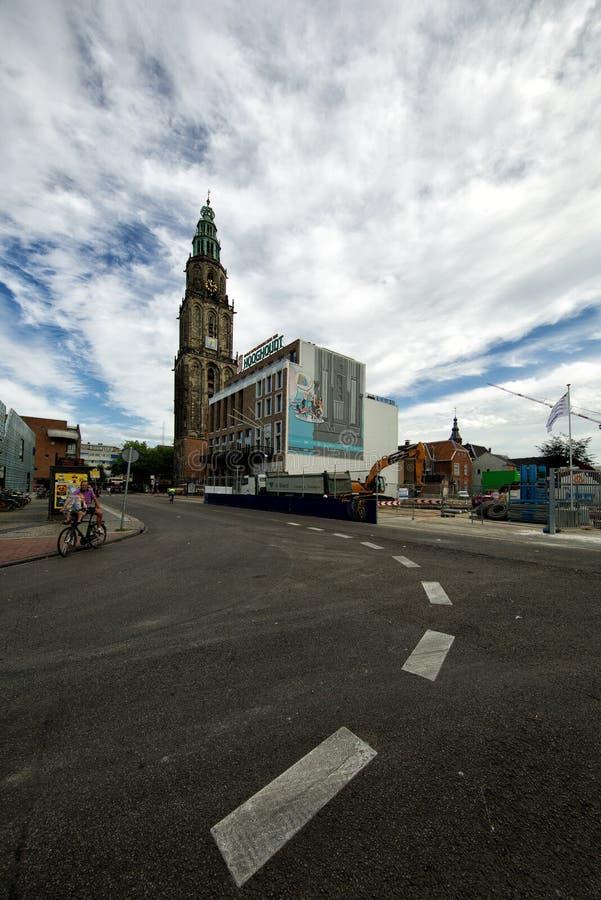 Martinitoren στο Γκρόνινγκεν Οι Κάτω Χώρες στοκ εικόνες με δικαίωμα ελεύθερης χρήσης