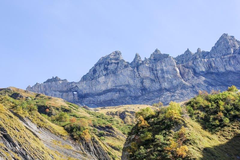 Martinsloch, cantão Glarus, Suíça fotografia de stock