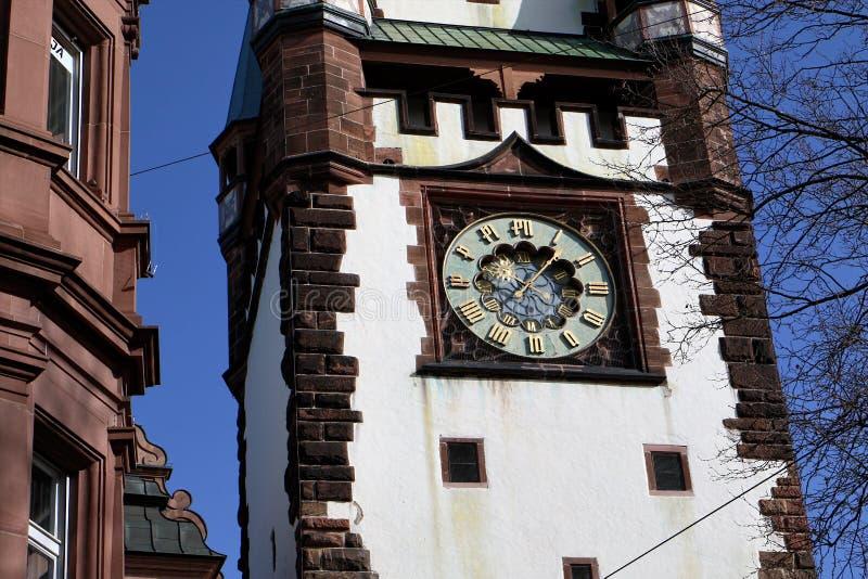 Martinstor в Фрайбурге, Германии стоковое изображение