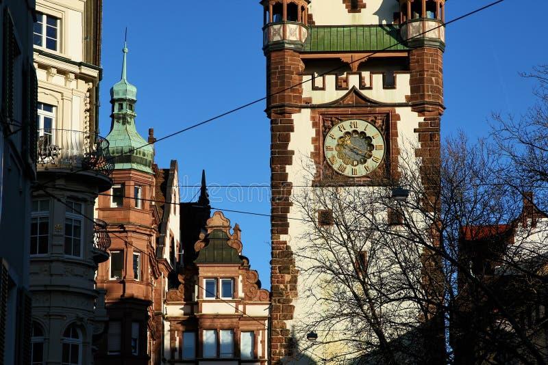 Martinstor in Freiburg, Duitsland royalty-vrije stock foto's