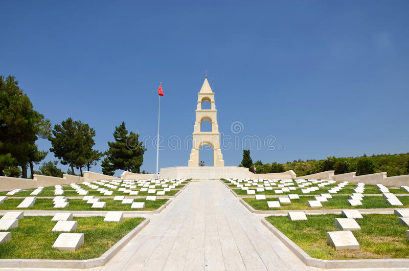 Martiri commemorativi per il cinquantasettesimo reggimento di fanteria, Canakkale, Turchia immagini stock