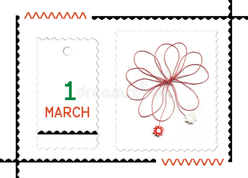 Martisor- rumänischer Frühlingsfeiertag lizenzfreie stockfotos