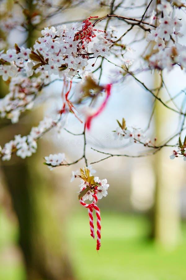 Martisor, symbol of spring stock photos