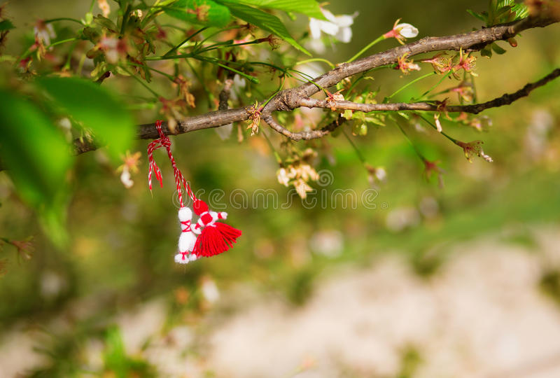 Martisors, symbols of the beginning of spring royalty free stock image