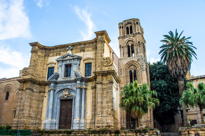 Martorana church, in Palermo, Italy royalty free stock photo