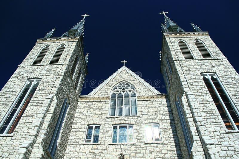 Martry's Shrine Catholic Church visited by John Paul II. Martry's Shrine Catholic Church at Saint-Marie-Among-the-Huron near Midland, Ontario, Canada stock photo