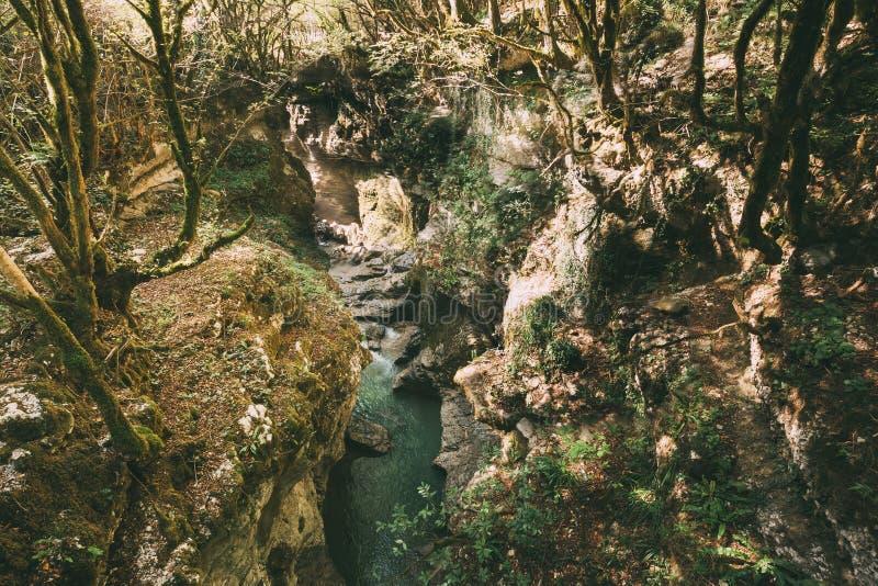 Martvili Canyon, Georgia. Landscape Abasha River. Natural Monuments. Martvili Canyon, Georgia. Landscape Abasha River. Natural Monument Is Located In The Village stock images