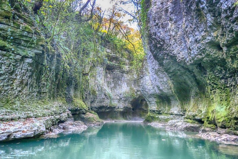 Martvili canyon stock photo