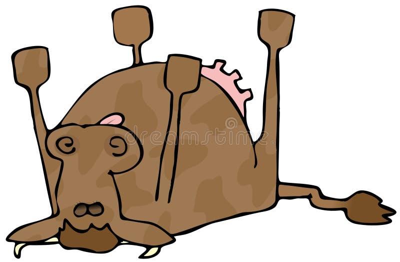 martwa krowa royalty ilustracja