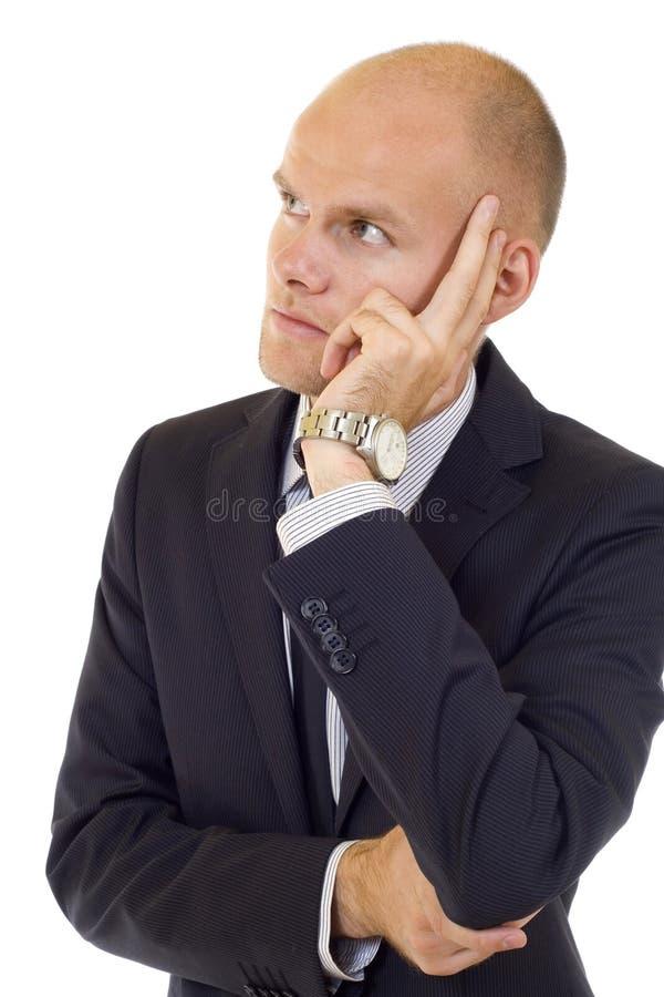 martwiący się biznesmena główkowanie zdjęcie stock