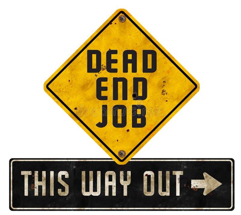 Martwy Koniec pracy znaka loga sztuki wyjścia Grunge zdjęcie royalty free