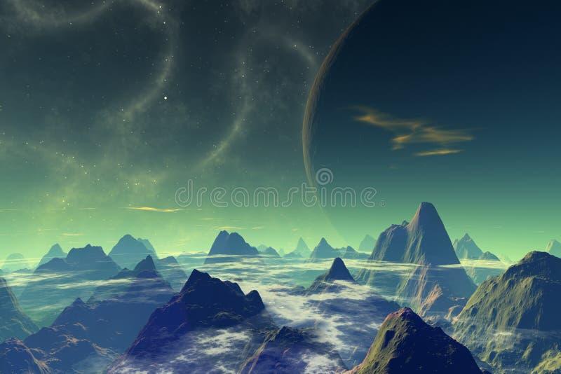 Download Martwy świat ilustracji. Ilustracja złożonej z tło, obcy - 27907