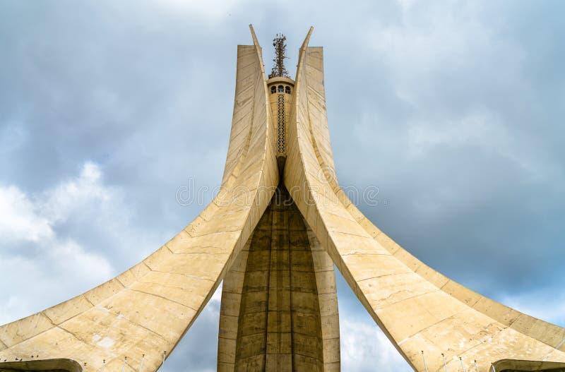 Martyres commémoratifs pour des héros tués pendant la Guerre d'Indépendance algérienne alger photographie stock