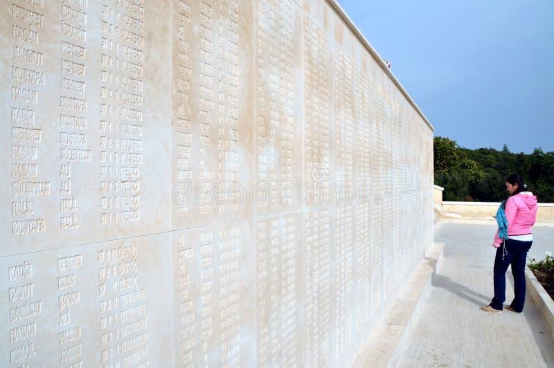 Martyres commémoratifs pour le cinquante-septième régiment d'infanterie, Canakkale photo stock