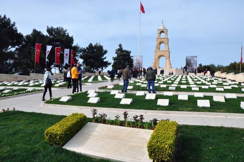 Martyres commémoratifs pour le cinquante-septième régiment d'infanterie, Canakkale, Turquie photos libres de droits