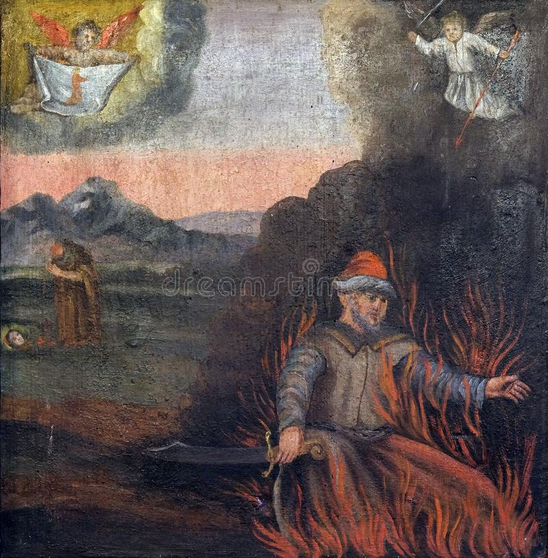 Martyrium und Tod von St. Barbara lizenzfreies stockbild