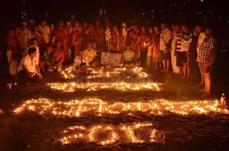 Martyrs Day in Gaya, Bihar, India stock image