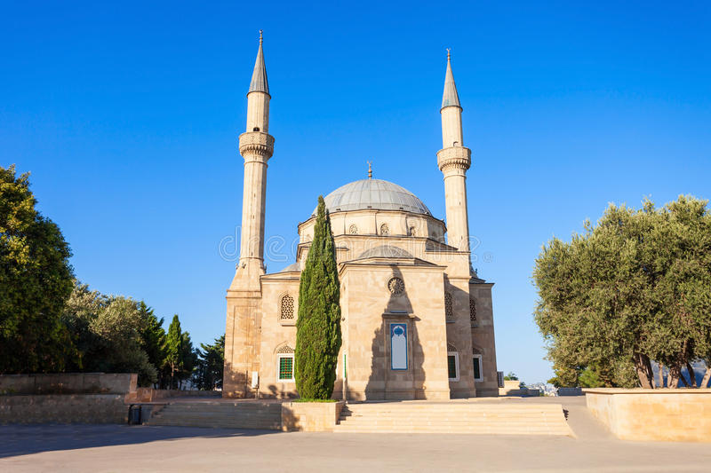 Martyrs Lane in Baku. The Mosque of the Martyrs or Turkish Mosque is a mosque in Baku, Azerbaijan, near the Martyrs Lane Alley royalty free stock image