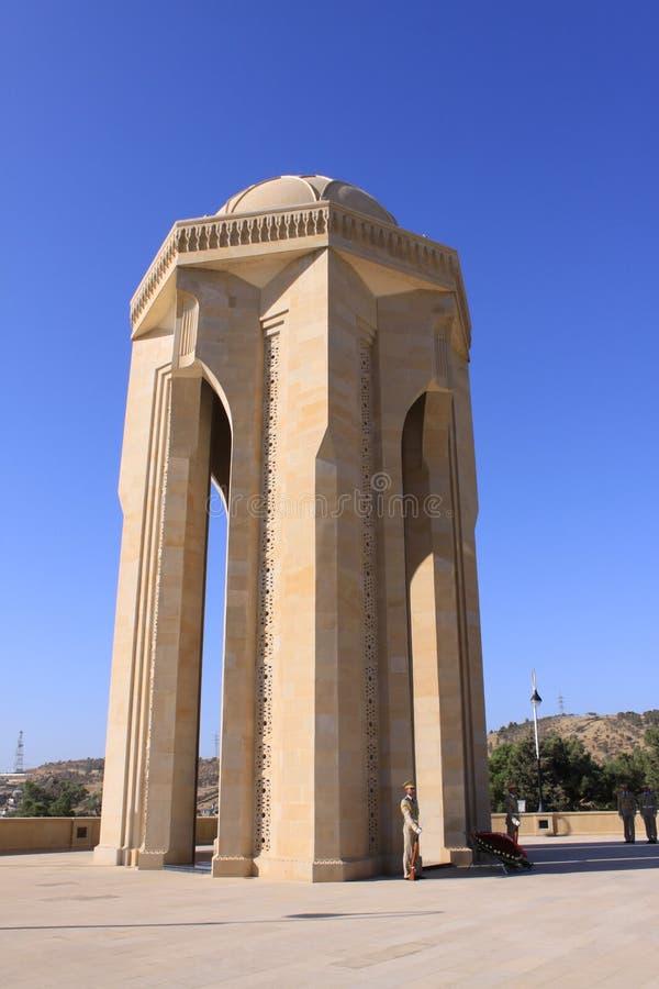 Martyrs le monument à Bakou photo libre de droits