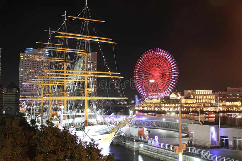 Maru du Nippon et monde de Yokohama Cosmo au Japon photo stock