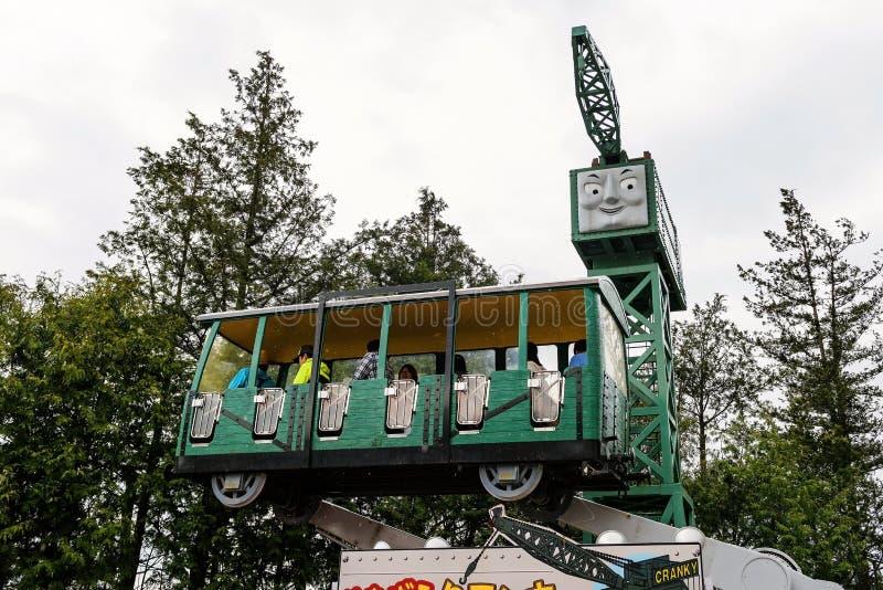 Marudny żuraw przy Thomas ziemi parkiem tematycznym fotografia royalty free