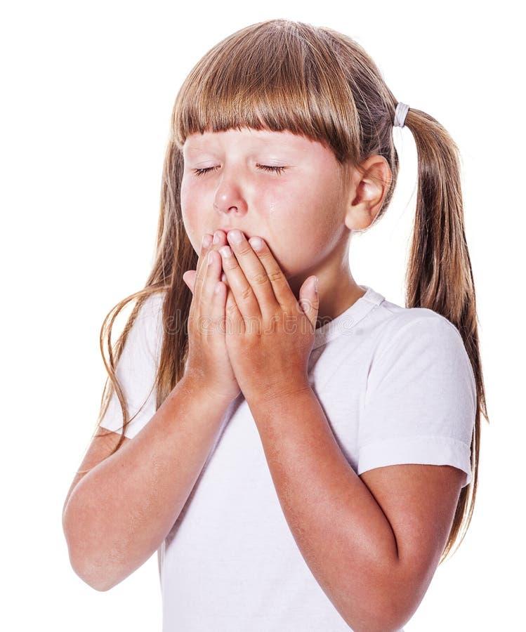 Marudny dziewczyna płacz zdjęcie stock