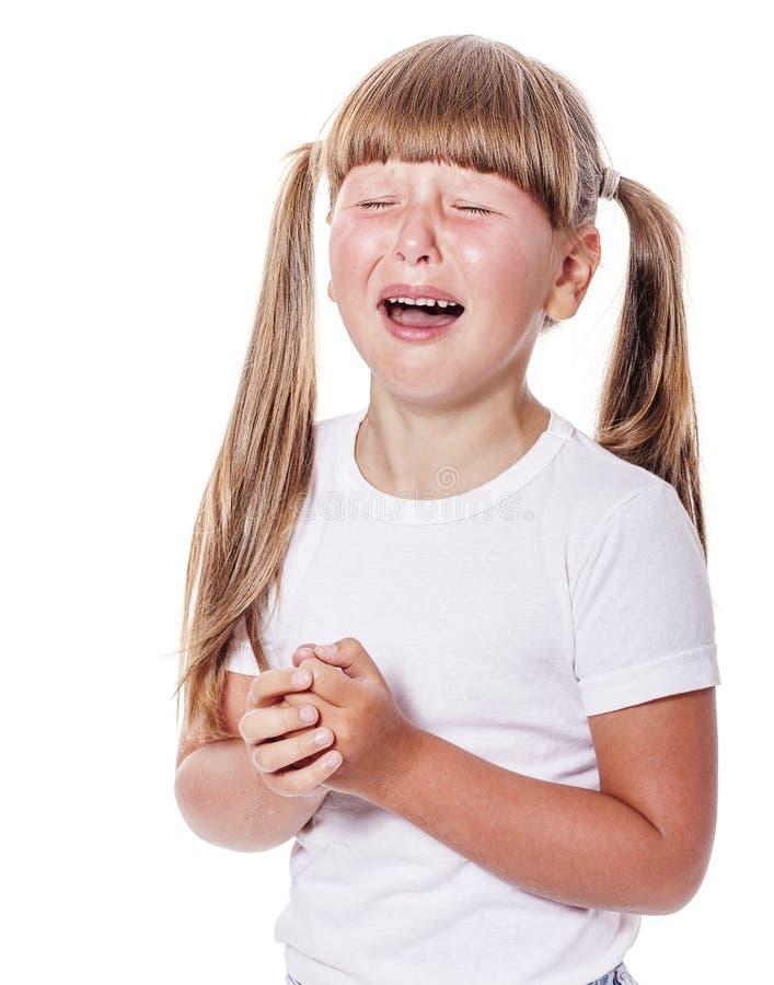 Marudny dziewczyna płacz obraz stock