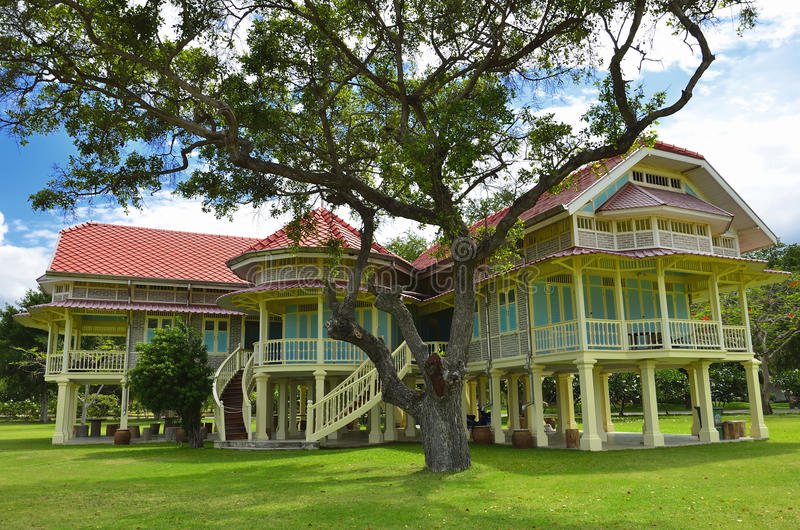 Maruekhathayawan palace in Thailand royalty free stock photography