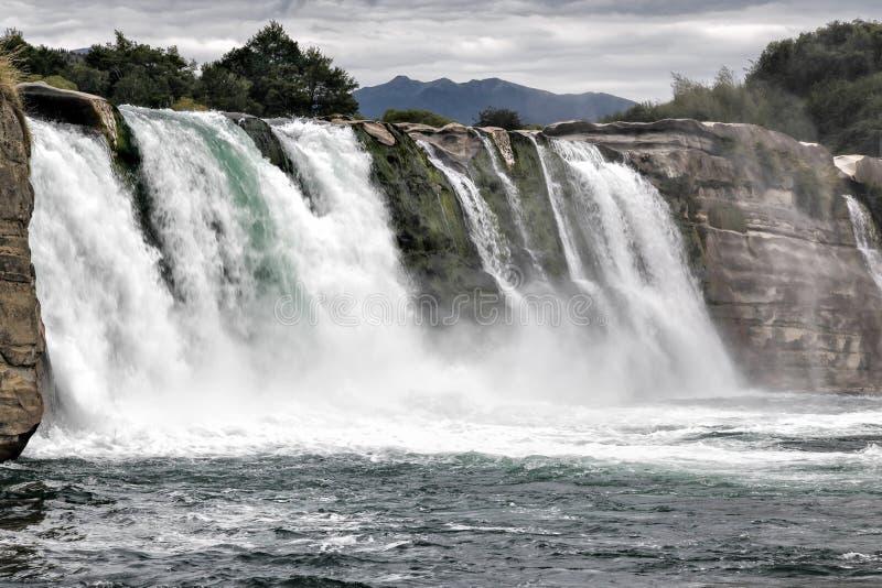 Maruia瀑布 库存照片